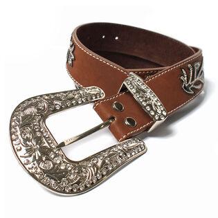 Women's Stitched Vine Leather Belt