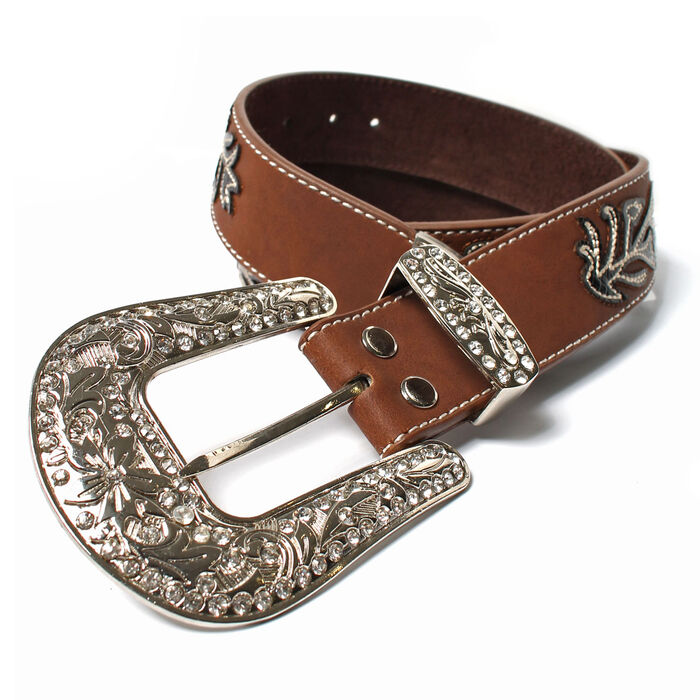 Women's Stitched Vine Leather Belt