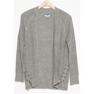 Junior Girls' [7-16] Lace-Up Cardigan