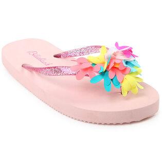 Kids' [9-1] Floral Flip Flop Sandal
