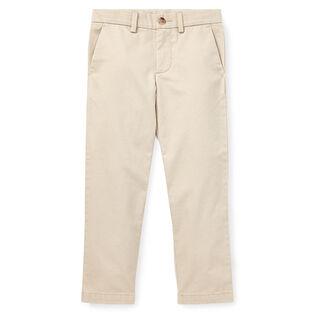 Pantalon ajusté en sergé de coton pour garçons [2-4]
