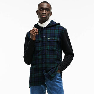 Men's Hooded Check Cotton Flannel Shirt