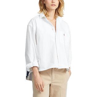 Women's Boy Fit Graphic Oxford Shirt