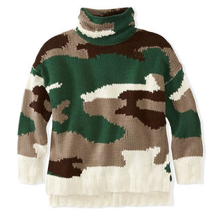 Women's Camo Rolled Turtleneck Sweater
