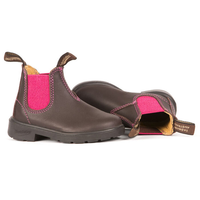 #1410 Kids' Blunnies Boot In Brown And Pink