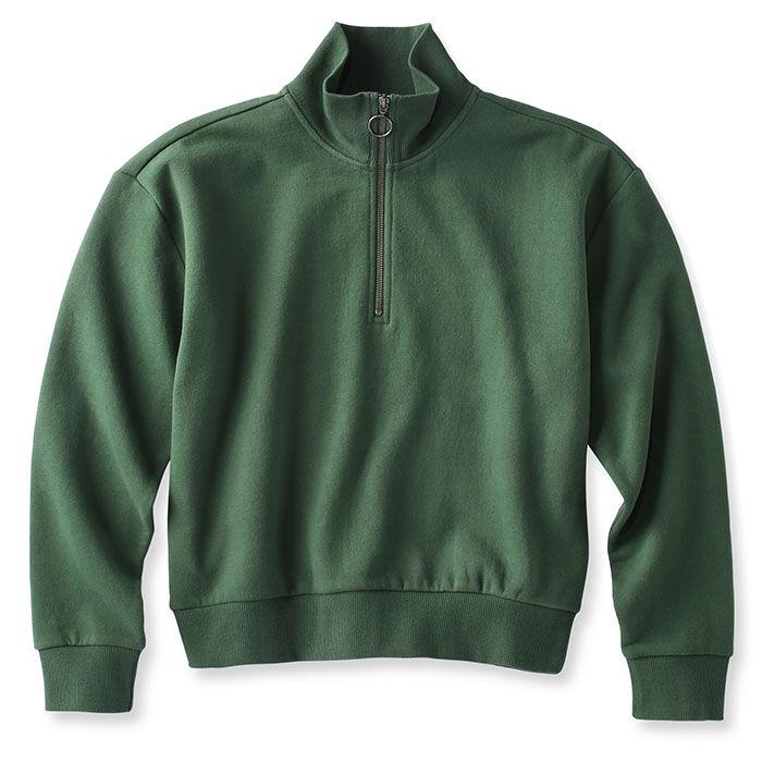 Women's Cropped 1/4-Zip Fleece Sweatshirt