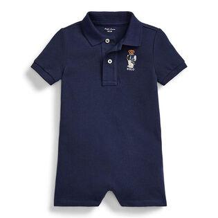 Baby Boys' [3-24M] Collegiate Bear Polo Shortall