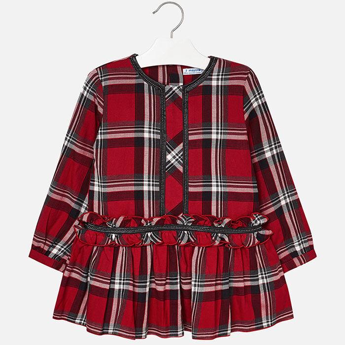 Girls' [3-6] Checked Dress