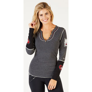 Women's Ski Love Canada Henley Top