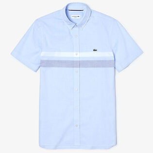 Chemise tricolore à rayures pour hommes
