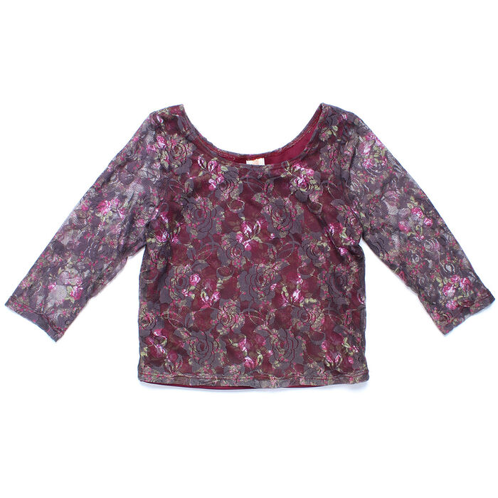 Junior Girls' [7-14] Floral Top