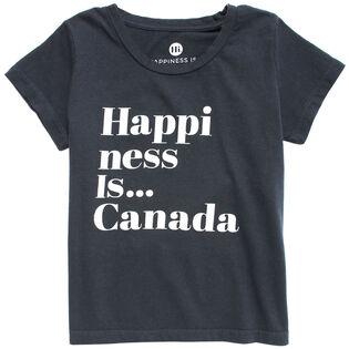 Junior Girls' [4-14] Happiness T-Shirt