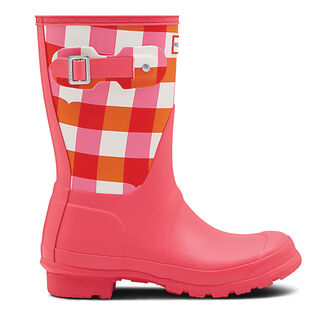 Women's Original Short Gingham Rain Boot