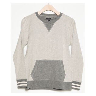 Junior Boys' [8-16] Pouch Pocket Crew Sweater