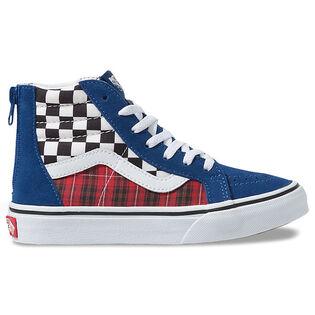 Kids' [11-4] Plaid Checkerboard Sk8-Hi Zip Shoe
