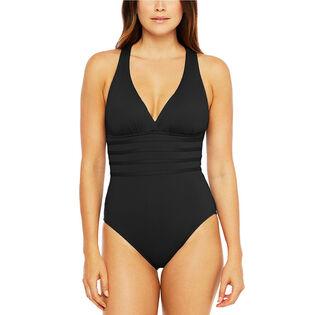 Women's Island Goddess Multi-Strap Crossback One-Piece Swimsuit