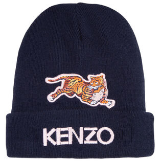 Juniors' Embroidered Tiger Hat