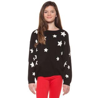 Junior Girls' [7-14] Stars Sweater
