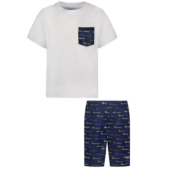 Ensemble 2 pièces t-shirt Multi Script Pocket + short pour garçons [2-4]