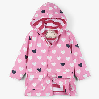 Girls' [2-6] Colour-Changing Lovely Hearts Raincoat