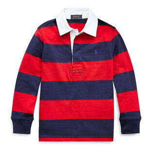 Boys' [5-7] Striped Cotton Rugby Shirt