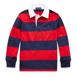 Chandail de rugby rayé en coton pour garçons [5-7]