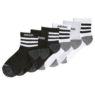Junior Boys' [8-16] 3-Stripes Quarter Sock (6 Pack)