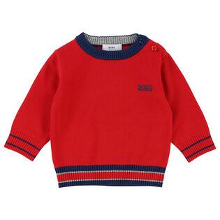 Boys' [6M-3Y] Striped Trim Sweater