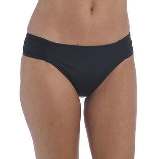Women's Island Goddess Shirred Hipster Bikini Bottom