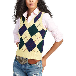 Women's Argyle Sweater Vest