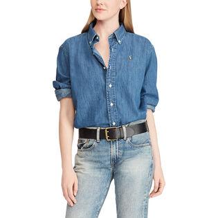 Women's Big Shirt Denim Button-Down Shirt