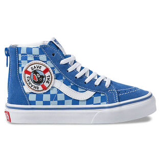 Juniors' [11-4] Shark Week Sk8-Hi Zip Shoe
