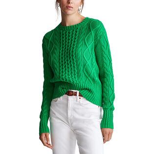 Women's Cable Knit Cotton Sweater