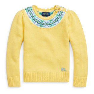 Girls' [2-4] Fair Isle Cotton-Blend Sweater
