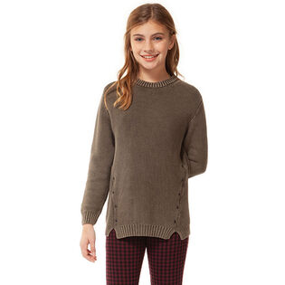 Junior Girls' [7-14] Knit Stud Sweater