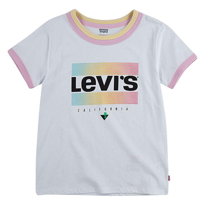 T-shirt Retro Ringer pour filles [2-4T]