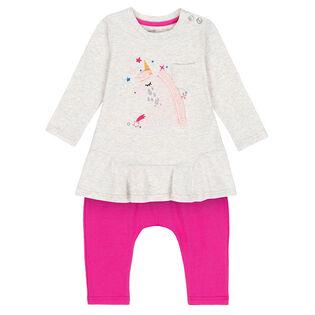 Baby Girls' [6-24M] Unicorn Tunic + Pant Two-Piece Set