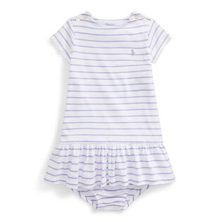 Baby Girls' [3-24M] Striped Jersey Dress + Bloomer Set