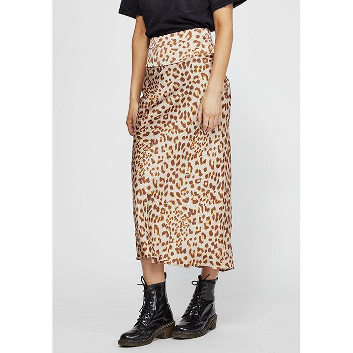 Women's Normani Bias Printed Skirt