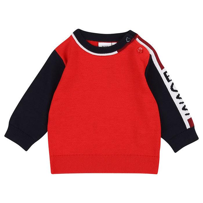 Chandail en tricot à blocs de couleurs pour garçons [6M-3]