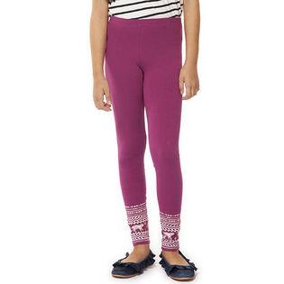 Junior Girls' [7-14] Pattern Cuff Legging