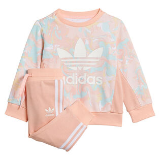 Babies' [9-18M] Allover Print Marble Crew Two-Piece Set