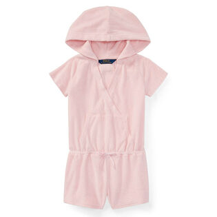 Girls' [2-4] Hooded Cotton Terry Romper