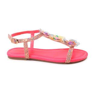 Juniors' [10-3] Glitter Flower Sandal
