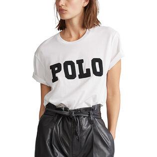 Women's Big Fit Beaded Polo T-Shirt