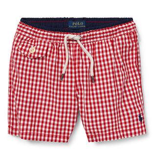 Boys' [5-7] Traveler Gingham Swim Trunk