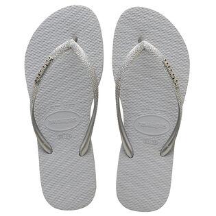 Women's Slim Glitter Flip Flop Sandal