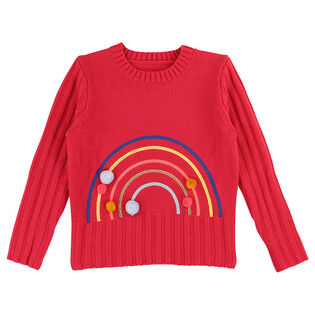 Girls' [3-6] Rainbow Knit Sweater