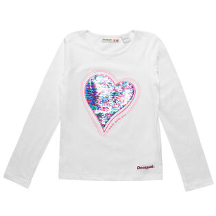 Junior Girls' [7-12] Heart T-Shirt