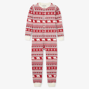 Kids' [2-14] Fair Isle Bear Union Suit